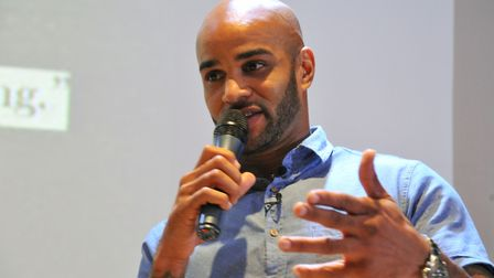 Former Norwich City player Leon McKenzie, talks about his life with depression during a Norfolk Mind