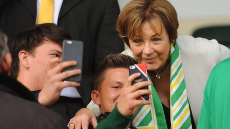 Derby day in focus, with Canaries owner Delia Smith Picture: DENISE BRADLEY
