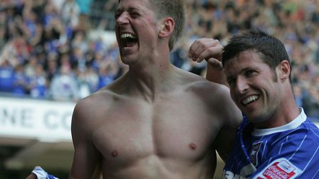 Just in case you were wondering - this is Jon Stead celebrating Ipswich Town's last winner against N