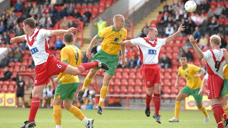 Askou in action during his trial, as City played Airdrie. Picture: David Lamb/Archant