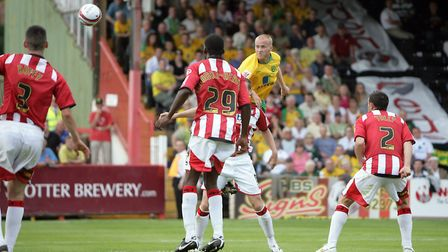 Askou scored the opening goal in City's trip to Exeter back in 2009. Picture: Mark Chapman/Focus Ima