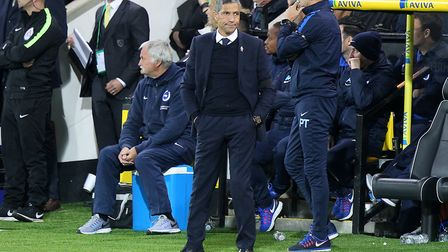Brighton manager Chris Hughton was not a happy man when Alex Pritchard slipped through his fingers i