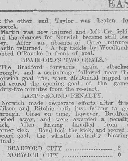 The report of Norwich's historic behind closed doors game at Lincoln Picture: Archant