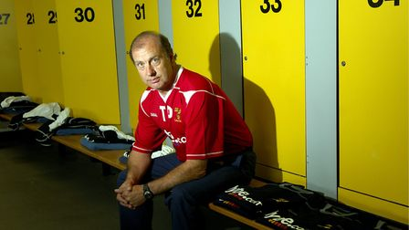 Terry Postle in the City dressing room Picture: Archant