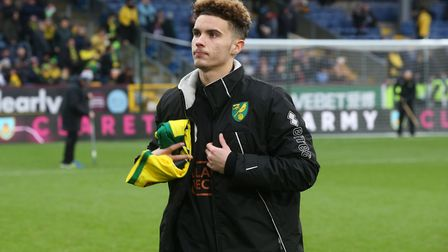 Josh Martin before the FA Cup match at Burnley in January when he was an unused sub Picture: Paul Ch