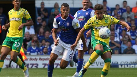 Max Aarons made his Norwich City league debut at Portman Road Picture: Paul Chesterton/Focus Images