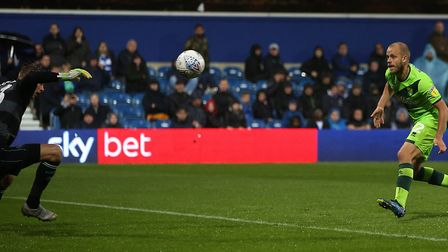 Teemu Pukki cleverly improvised to chest a winner at QPR Picture: Paul Chesterton/Focus Images Ltd