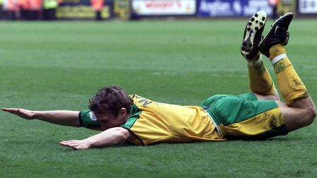 Norwich City's Paul McVeigh celebrating a goal Picture: PA