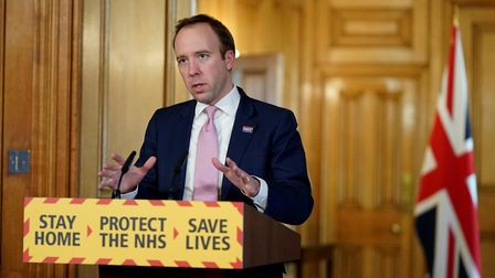 Health secretary Matt Hancock said hospitals' debt would be written off. Picture: Pippa Fowles/Crown