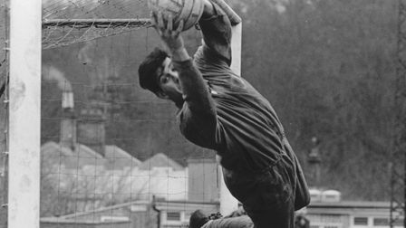 Sport - Norwich City Football ClubKevin Keelan, Norwich goalkeeper displays his athleticism during