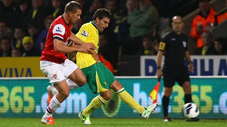 Garrido played for Norwich City between 2012-2015. Picture by Paul Chesterton/Focus Images Ltd