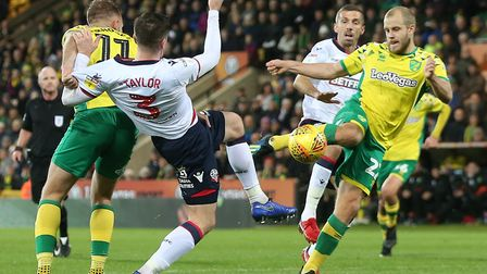 Teemu Pukki was tha main man again with a stoppage winner to sink Bolton at Carrow Road Picture: Pau