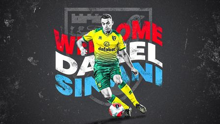 Norwich City confirmed Danel Sinani had signed a pre-contract Picture: Norwich City FC