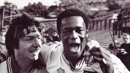 Justin Fashanu, with Phil Hoadley Picture: Archant