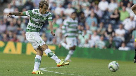 Norwich City star Teemu Pukki in his Celtic days Picture: PA