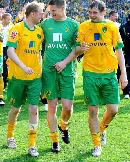Stephen Hughes, Michael Nelson and Grant Holt having a laugh Picture: Archant