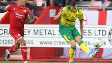 Philip Heise has made just one senior Norwich City appearance in the League Cup at Crawley Picture: