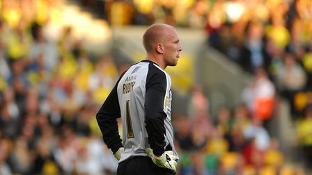 John Ruddy during a game against Gillingham at Carrow Road in 2010 Picture: Archant