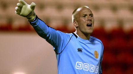 John Ruddy during his time on loan at Motherwell Picture: PA