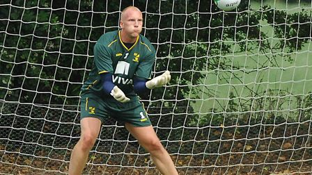 John Ruddy during training at Colney Picture: Archant