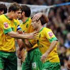 Captain Grant Holt is among players congratulating Wes Hoolahan on his goal against Bristol Rovers P