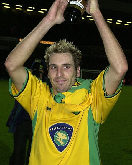 Darren Huckerby bids a farewell to the Carrow Road crowd in his final loan game for Picture: Archant