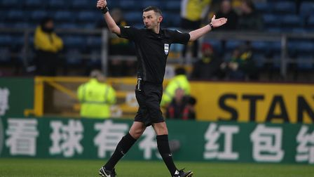 Referee Michael Oliver has been at the centre of VAR controversy this season Picture: Paul Chesterto