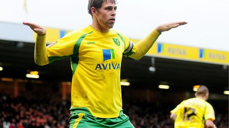 Not quite a traditional celebration - this after scoring against Preston Picture: Archant
