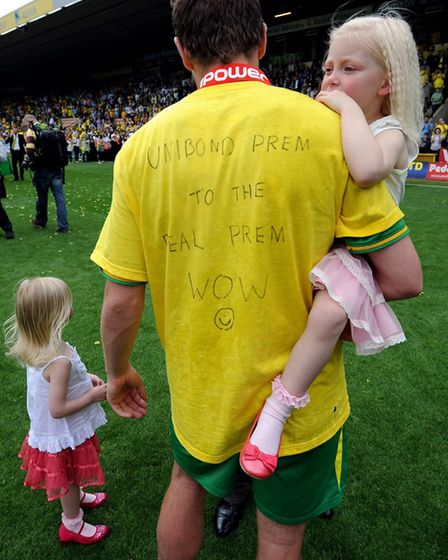 Grant Holt after the final game of the 2010-11 Championship-winning season Picture: Archant