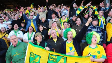 Norwich City fans at The Valley Picture: Alex Broadway/Focus Images Ltd