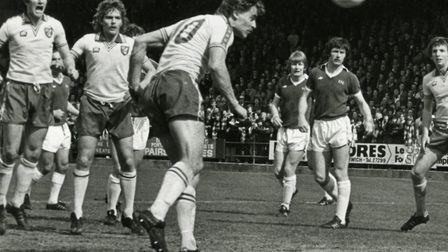 Viv Busby in action for the Canaries Picture: Archant