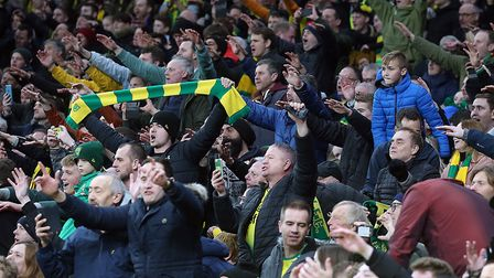 Norwich City fans await whether the Premier League resumes and in what form Picture: Paul Chesterton