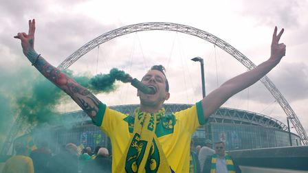 Lighting up Wembley 2015 style... a return is still a dream this season Picture: Paul Chesterton/Foc