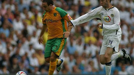 Lee Crofts during his first game for Norwich, at Leeds Picture: Paul Thomas/Sportsbeat Images