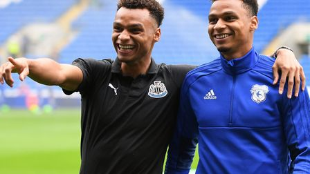 Jacob, left, and Josh Murphy faced each other in the Premier League when Cardiff hosted Newcastle du