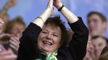 Delight for Delia Smith after City's win over Wolves Picture: Archant