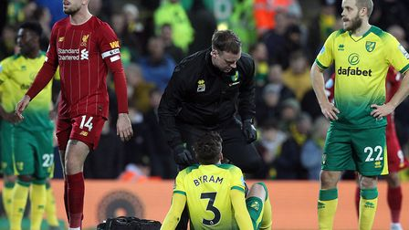 Norwich City defender Sam Byram needed surgery on a hamstring injury suffered during February's 1-0