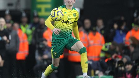 The painful moment that Sam Byram injured his hamstring while in action for the Canaries Picture: Pa