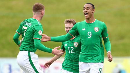 Adam Idah celebrates a goal for the Republic of Ireland Under-17s Picture: PA