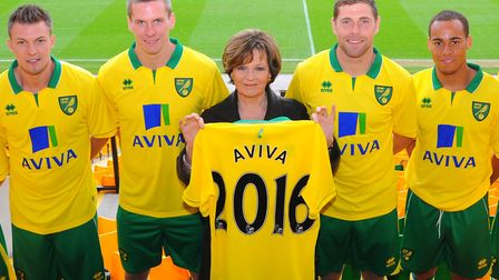 Norwich City's majority shareholder Delia Smith, pictured in 2012 announcing a new sponsorship deal