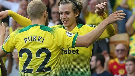 Todd Cantwell's goal helped Norwich beat Manchester City at Carrow Road earlier this season Picture: