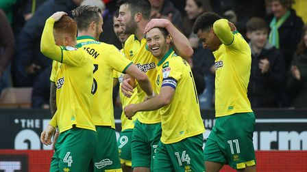 Wes Hoolahan is all smiles after scoring against Leeds in his last Norwich City game Picture: Paul C
