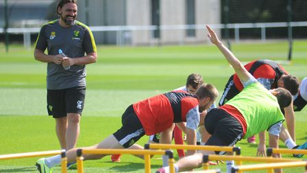 Daniel Farke will be able to resume watching his players in training soon - but in only in small gro