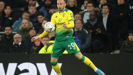 Norwich City striker Josip Drmic in action during the FA Cup win at Spurs Picture: Paul Chesterton/F
