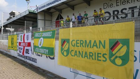 The German Canaries are among the supporters groups who have followed City's pre-season tours of Ger