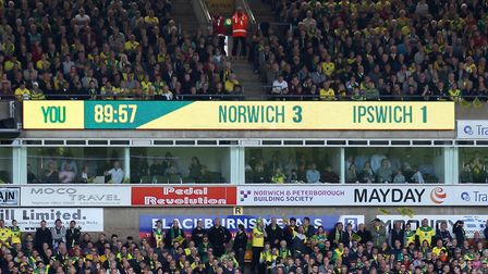 The scoreboard says it all Picture: Paul Chesterton/Focus Images Ltd