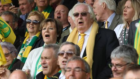 Delia Smith and Michael Wynn Jones watching the action Picture: Paul Chesterton/Focus Images Ltd