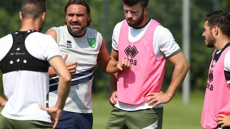 Head coach Daniel Farke made Grant Hanley his captain ahead of the 2018-19 season Picture: Paul Ches