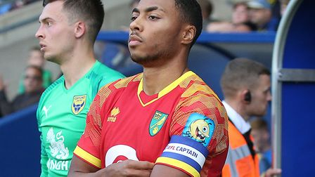 Akin Famewo captained Norwich City's development squad in the EFL Trophy earlier this season Picture