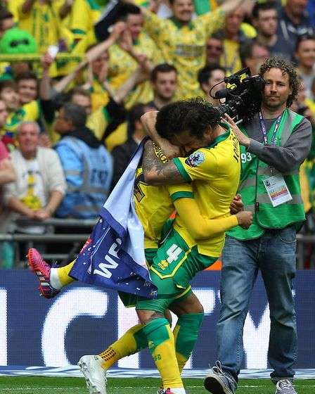 A huge for Nathan Redmond and Bradley Johnson Picture: Paul Chesterton/Focus Images Ltd
